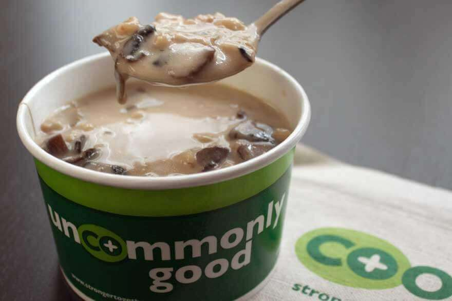 Co-op Cafe Mushroom Barley Soup