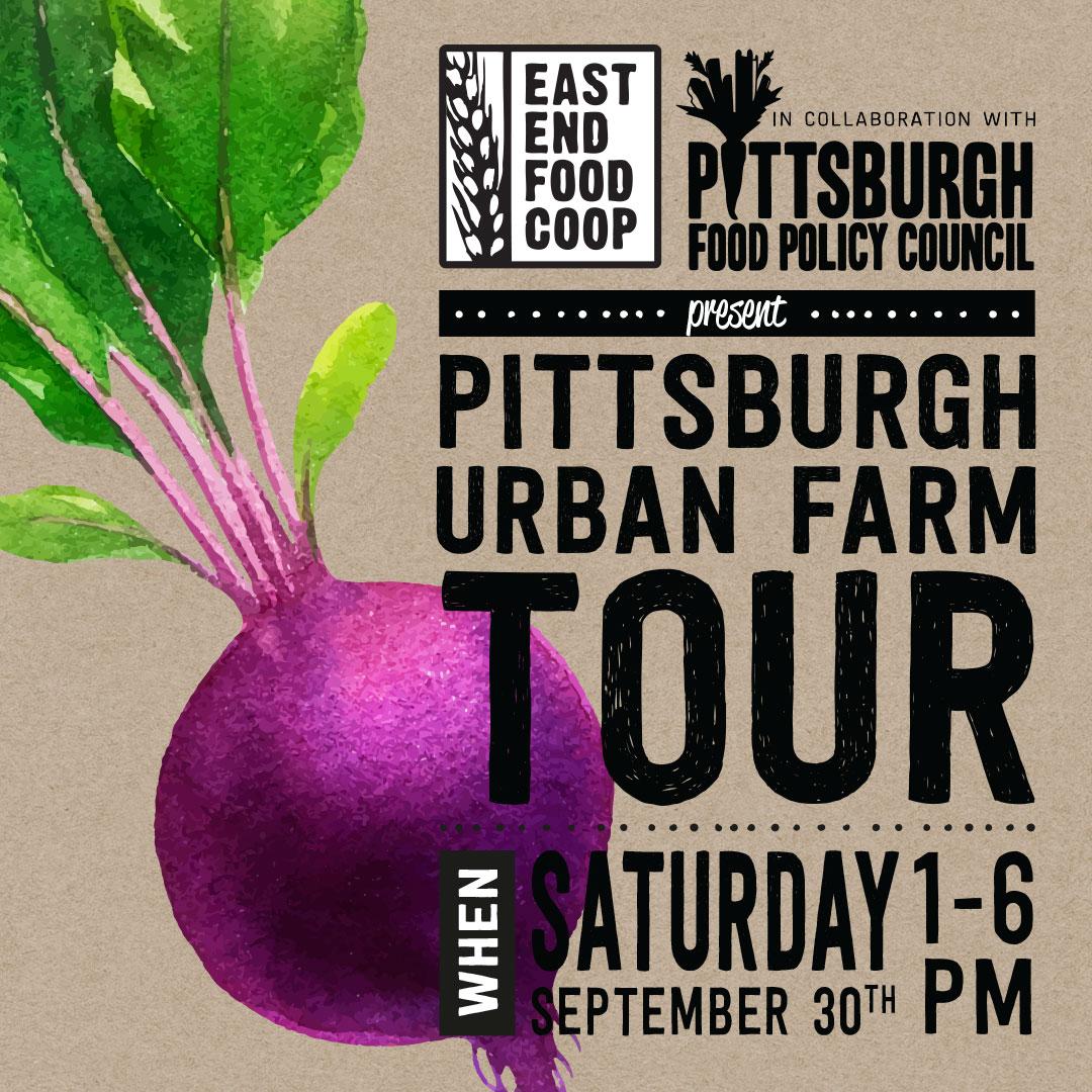 Pittsburgh Urban Farm Tour - Saturday, September 30th, 1-6 PM