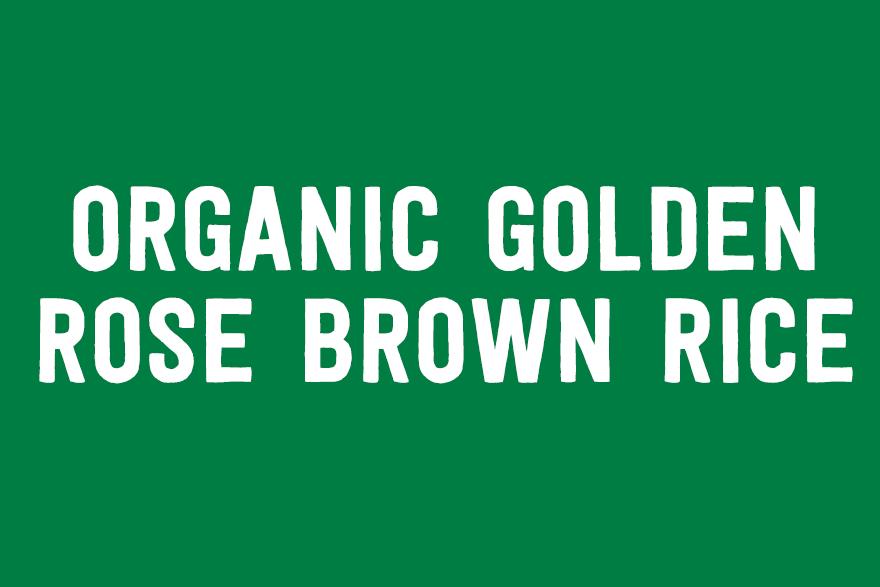 Organic Golden Rose Brown Rice
