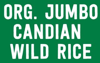 Organic Jumbo Candian Wild Rice