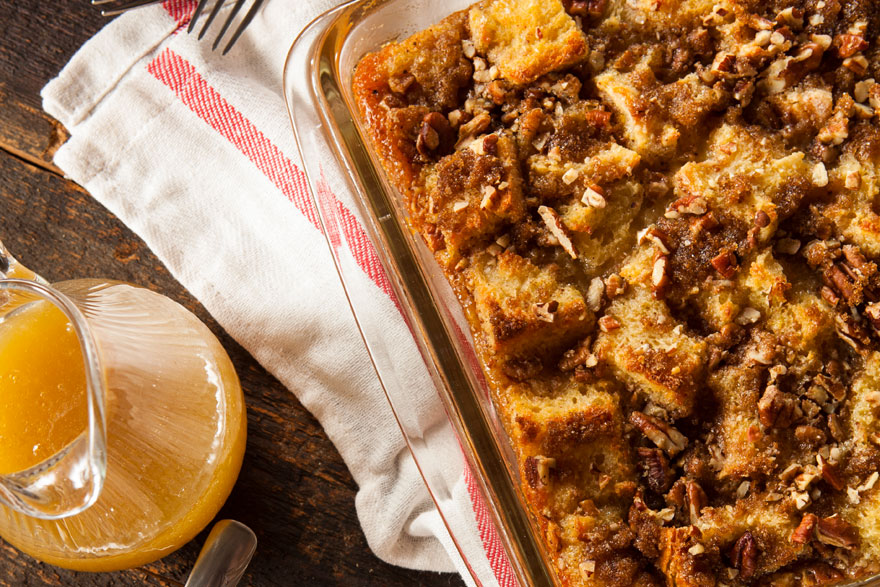 Vanilla Ice Cream Bread Pudding