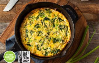 Spinach and Ramps Quiche