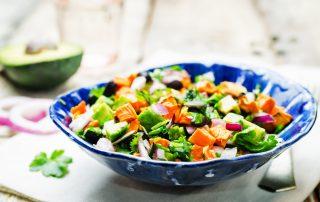 sweet potato avocado salad